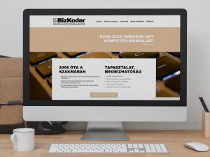 BizKoder weboldal