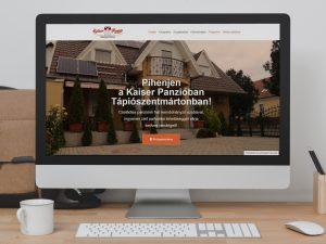 Kaiser Panzió weboldal