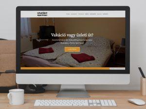 Platán Apartman weboldal