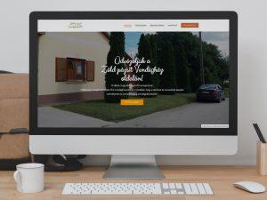 Zöld Pázsit Vendégház weboldal